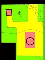 Atribución de usos de los edificios del faro de Punta des Moscarter