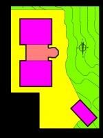 Atribución de usos de los edificios del faro de Tagomago